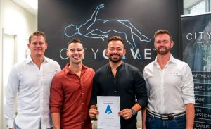 City Cave franchise owners Taylor Fielding and Matt Joudo